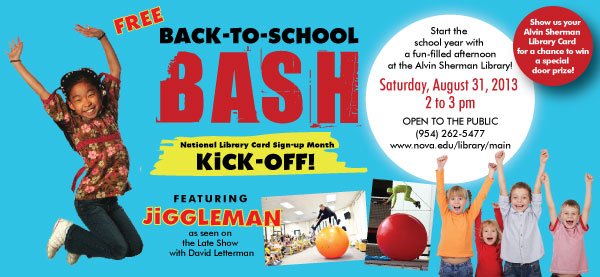 Free Back to SchoolBash for children.