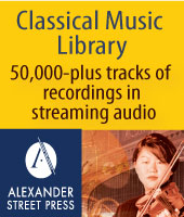 Classical Music Library Alexander Street Press