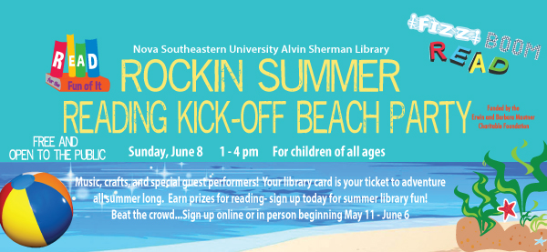 Summer Reading Kick-off beach party