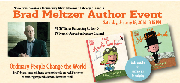Brad Meltzer Author event