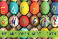 We're Open on Easter Sunday