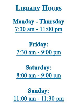 Alvin Sherman Library Hours