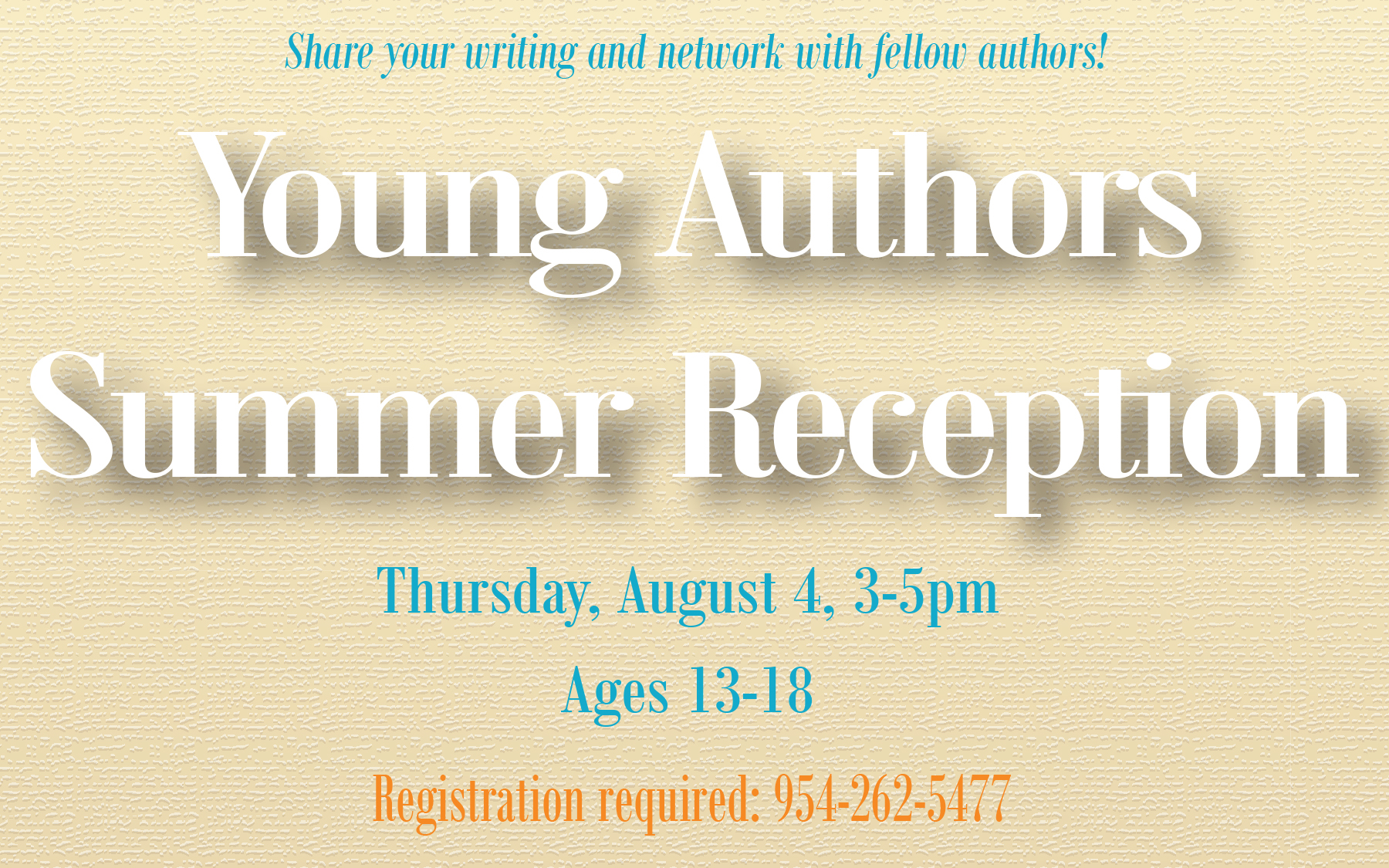 Young Authors Summer Reception