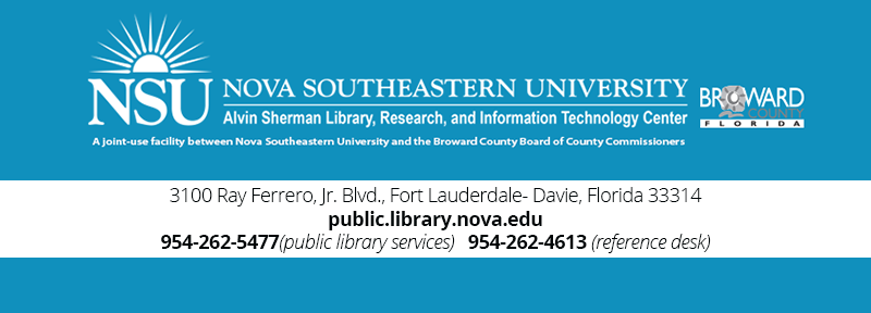 Address Information Alvin Sherman Library