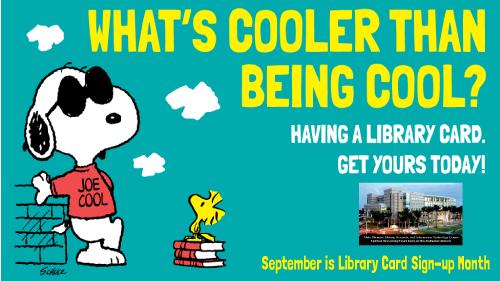 Snoopy libraary card