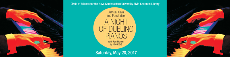 Dueling Pianos to raise money for the Alvin Sherman Library