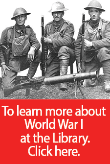 a complete guide to resources at the Library on World War I