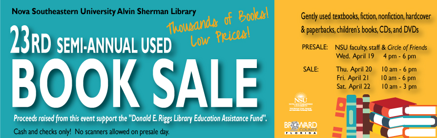 23rd semi-annual book sale at the Alvin Sherman Library
