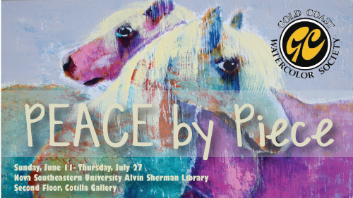 Peace by Piece art exhibit by Goldcoast watercolor society