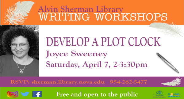 Author, Joyce Sweeney presents Develop a Plot Clock
