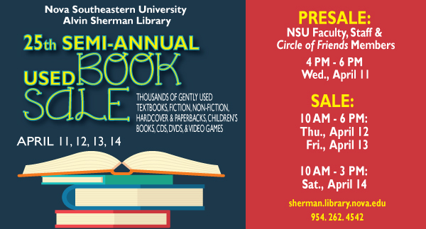 25th annual used book sale
