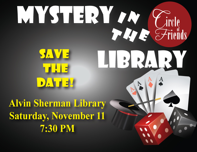 Save the Date for the Mystery in the Library event!