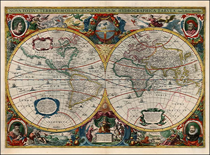 100 maps that changed the world discovery of the americas and the henricus hondius nova totius terrarum orbis geographica ac hydrographica tabula auct henr hondio gumiabroncs Gallery