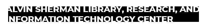 Alvin Sherman Library Logo